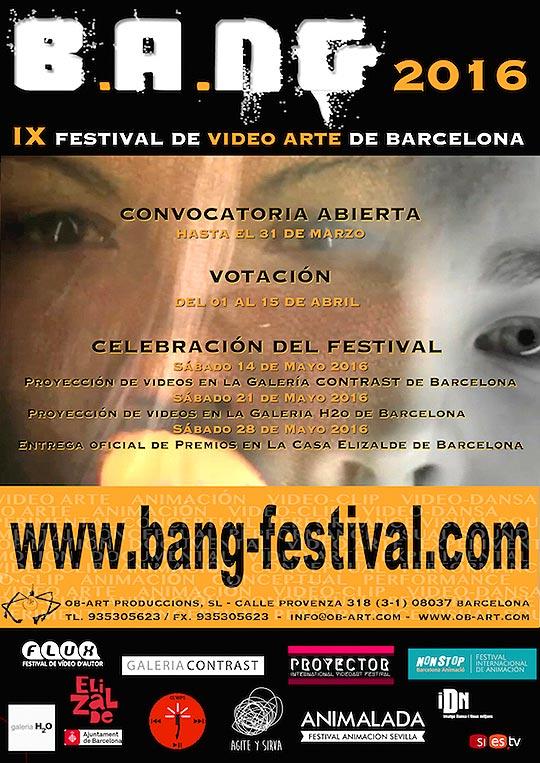 IX Festival Internacional de Video Arte de Barcelona 2016 B.A.N.G
