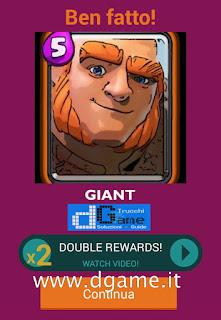 Soluzioni Quiz Clash Royale card livello 25