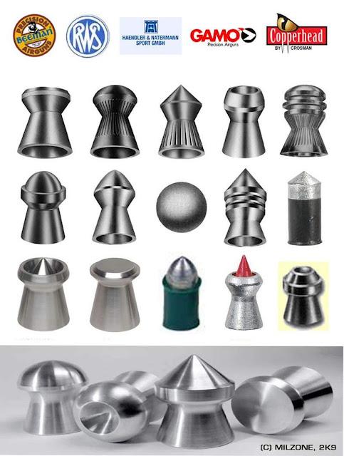 Jenis-jenis peluru senapan angin