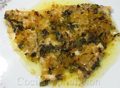 pez espada al horno