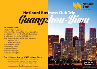 National banknof Kenya China business trip