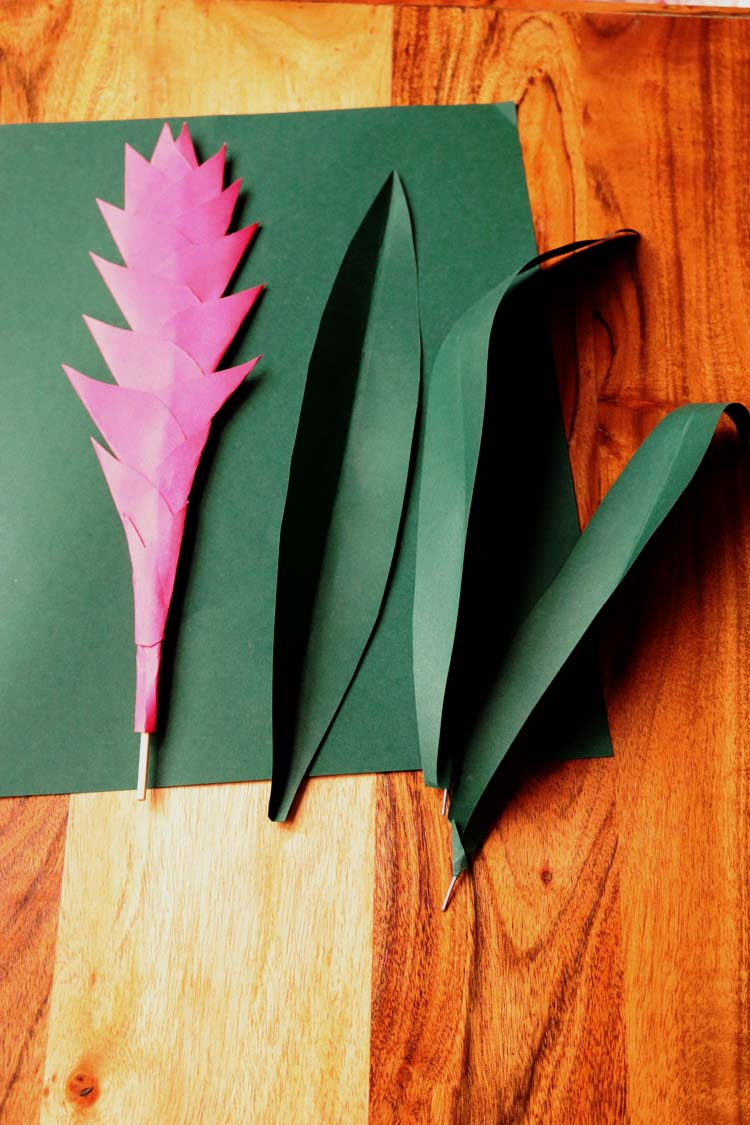 Paper Plant A Bromelaid Diy Tutorial Handmade Paper Flowers By