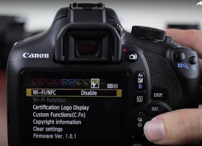 Settings Eye-Fi Card Canon Eos Rebel T6