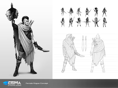 Female Rogue Character design