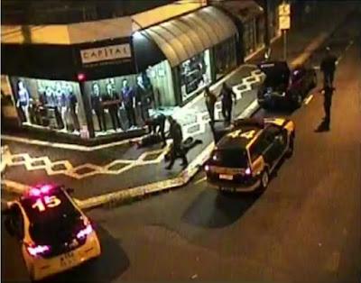 Com a ajuda das câmeras de monitoramento Guarda Civil de Piracicaba flagra marginais furtando loja de roupas