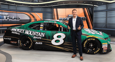 Hemric unveiled the No. 8 Smokey Mountain Herbal Snuff Chevrolet Camaro ZL1 on set of FS1's RaceHub.