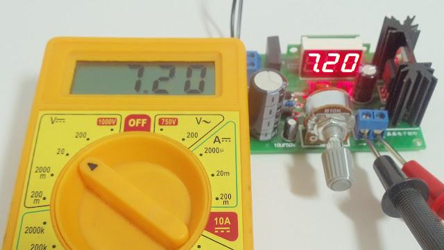 Módulo LM317 - Medição