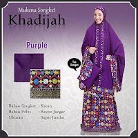 Mukena Bali khadijah songket Purple