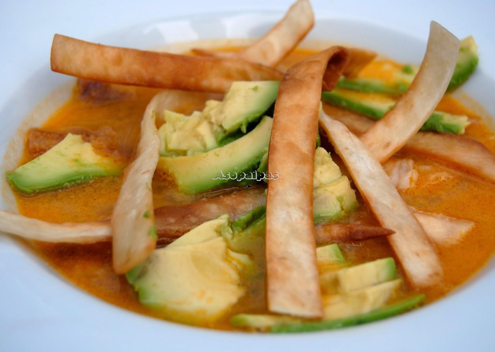 Sopa Azteca Receta  Asopaipas Recetas de Cocina Casera