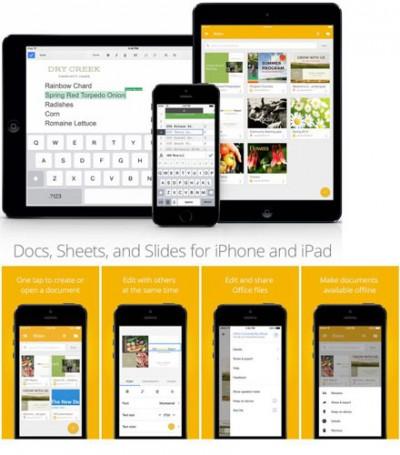 Google Drive Slides Dirilis, Untuk iPad dan iPhone