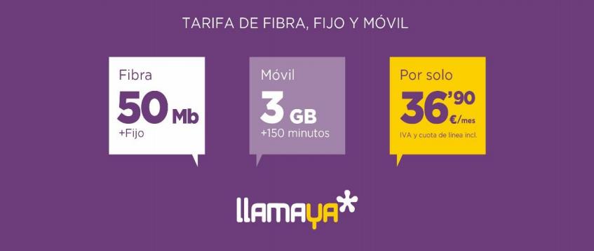Llamaya estrena su oferta de fibra