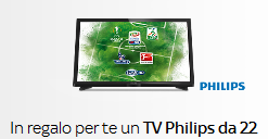 "Offerta Sky Luglio 2016: TV Philips 22"" Full HD in regalo"