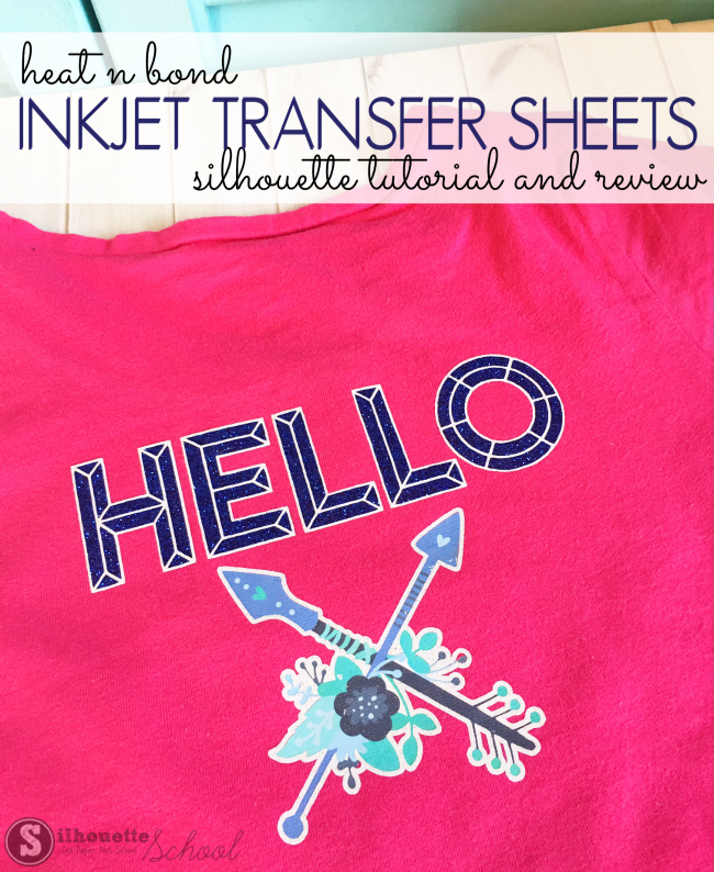 image regarding Silhouette Printable Heat Transfer named Employing Warm N Bond Inkjet Go Sheets with Silhouette