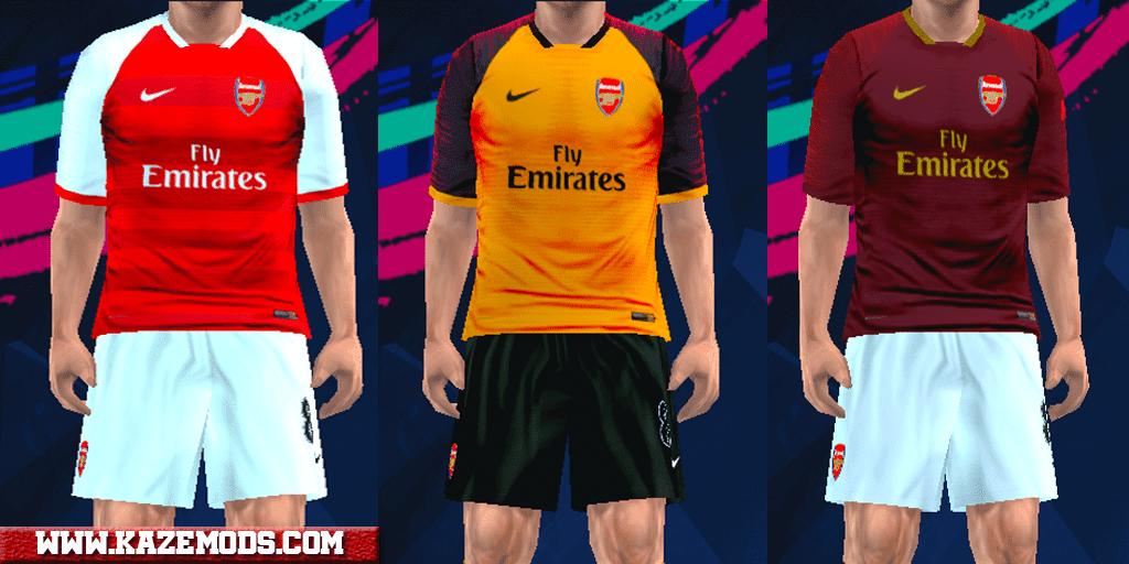 Arsenal Fantasy Kits 2019 For PES PSP (PPSSPP