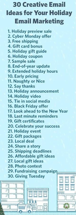 30 ideas para email marketing en vacaciones.