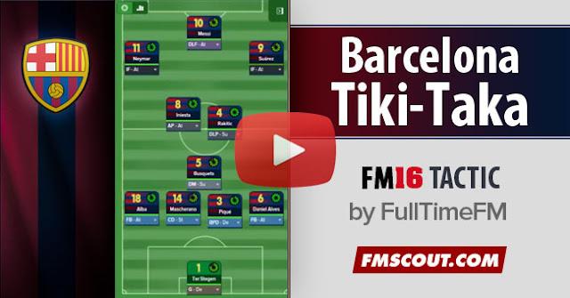 Formasi Ampuh Terbaik FM 2016 Tiki Taka Barcelona