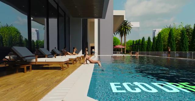 Bể bơi với thiết kế sang trọng
