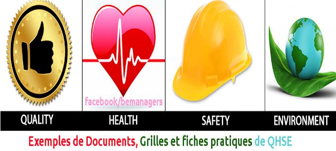 Pack de Formulaires,Documents,Guides et fiches pratiques de QHSE