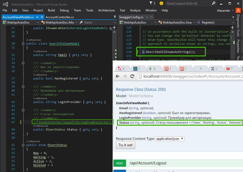 namespace sansys net {: Web API: автодокументация (Help Page