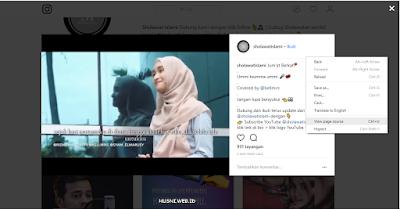 Cara download foto atau video instagram tanpa aplikasi melalui PC atau Laptop
