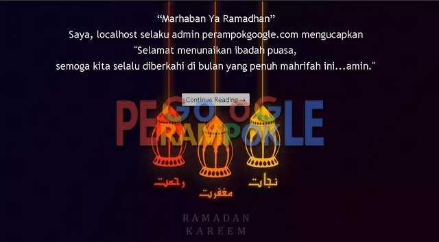 cara membuat ucapan selamat ramadhan di blogger
