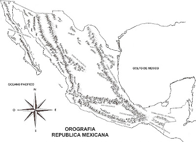 Mapa De Las Montañas De México Orografía De La República