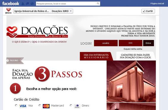 """Iglesia """"Pare de Sufrir"""" recibe diezmos y ofrendas por Facebook"""