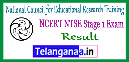 NCERT NTSE National Council for Educational Research Training National Talent Search Examination Stage 1 Result 2017
