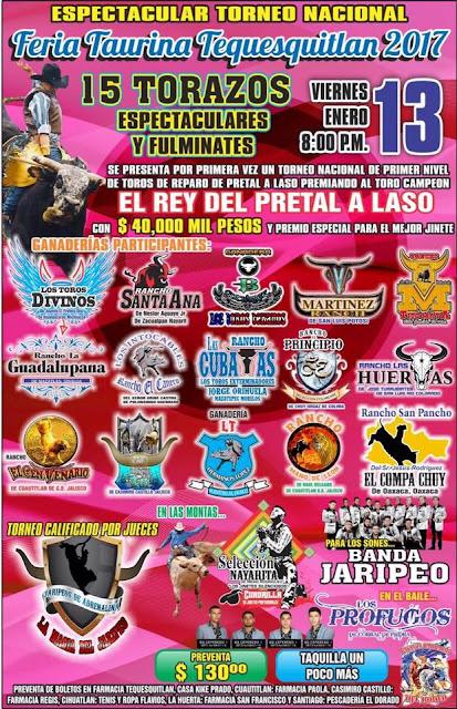 feria taurina tequesquitlán 2017