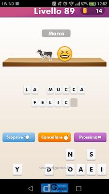 Emoji Quiz soluzione livello 89