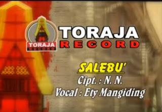 Lirik Lagu Toraja Salebu' (Ety Mangiding)