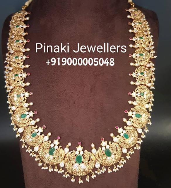 Peacock Long Haram by Pinaki Jewellers