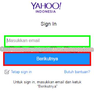 email pemulihan yahoo