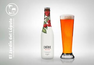 Chérie Bière Blanche à la Cerise, una cerveza de trigo a la cereza.