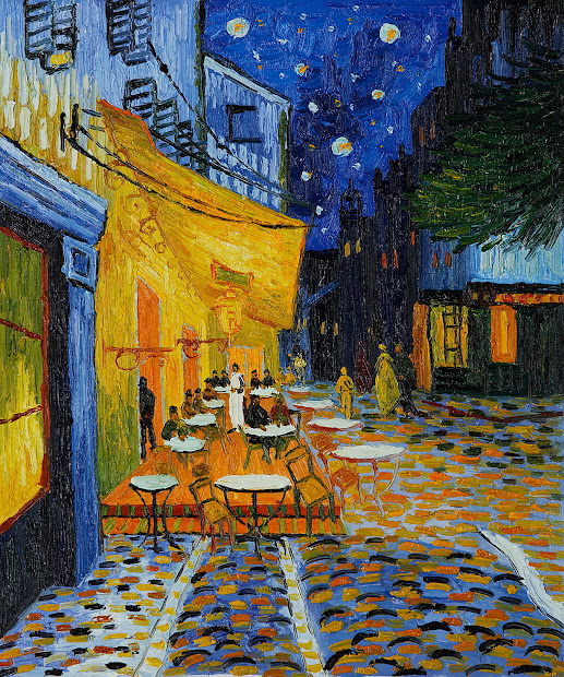 Van Gogh Paintings Cafe Terrace at Night