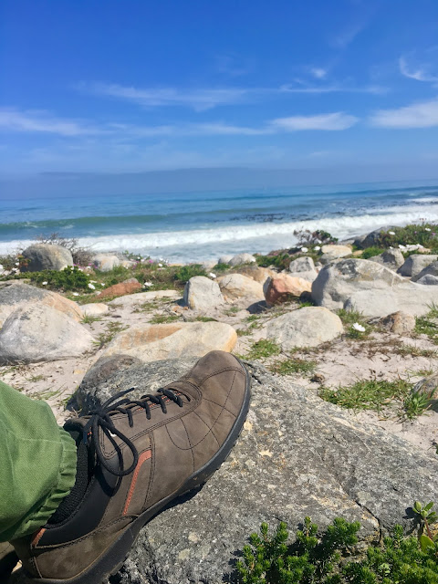 Thor GTX shoes from Hotter on Kommetjie beach