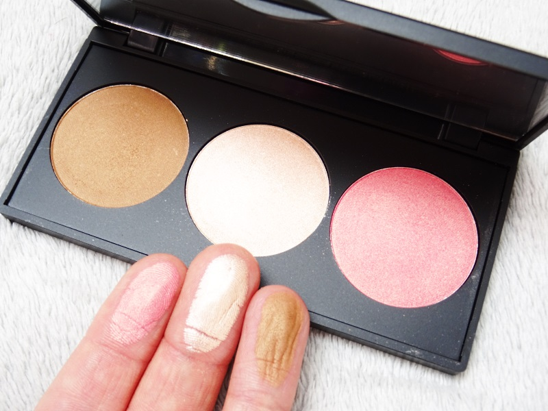 trio de fards golden rose palette cookie's make up