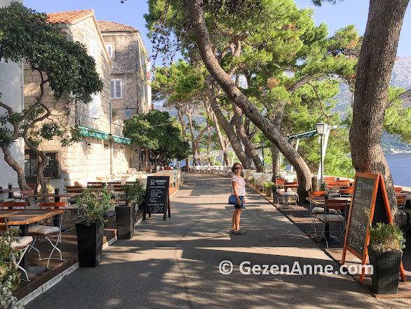 Korçula adası sokakları, Hırvatistan Dalmaçya
