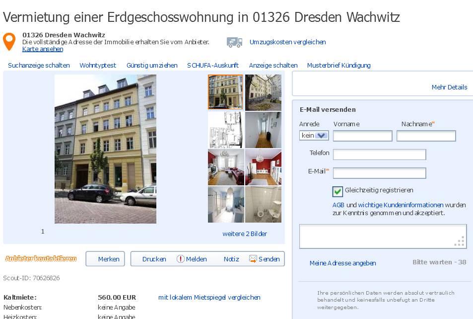 Informationen ber Wohnungsbetrug  informations about