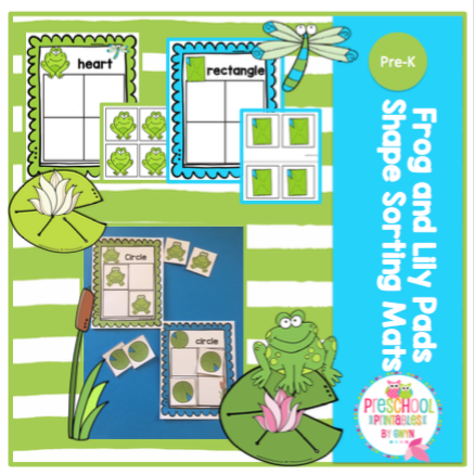 photo relating to Printable Lily Pads named Frog and Lily Pads Condition Sorting Mats ~ Preschool Printables
