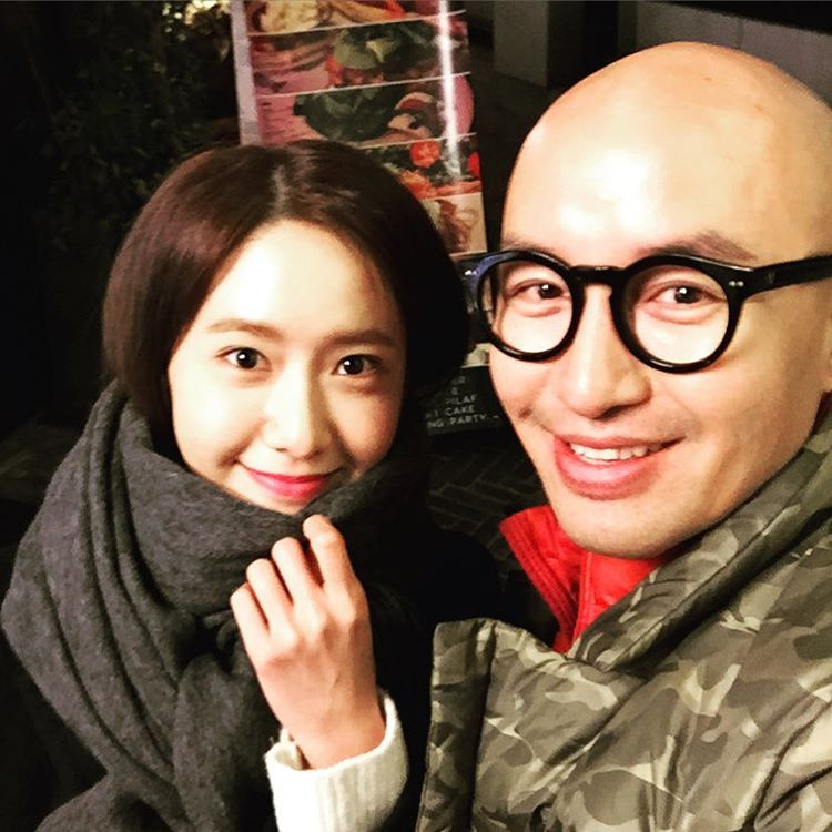 snsds yoona and her cute selca with hong seok cheon