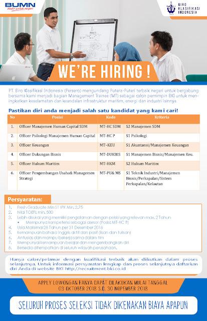 Lowongan Kerja PT. Biro Klasifikasi Indonesia (Persero)