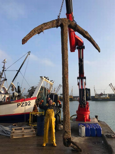 Mystery anchor found off Cornwall coast may be from world's most valuable shipwreck