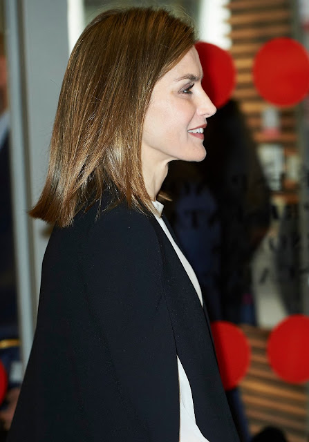 Queen Letizia of Spain attends a meeting with the Spanish Committee of Representatives of People with Disabilities-CERMI