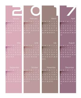 2017カレンダー無料テンプレート230
