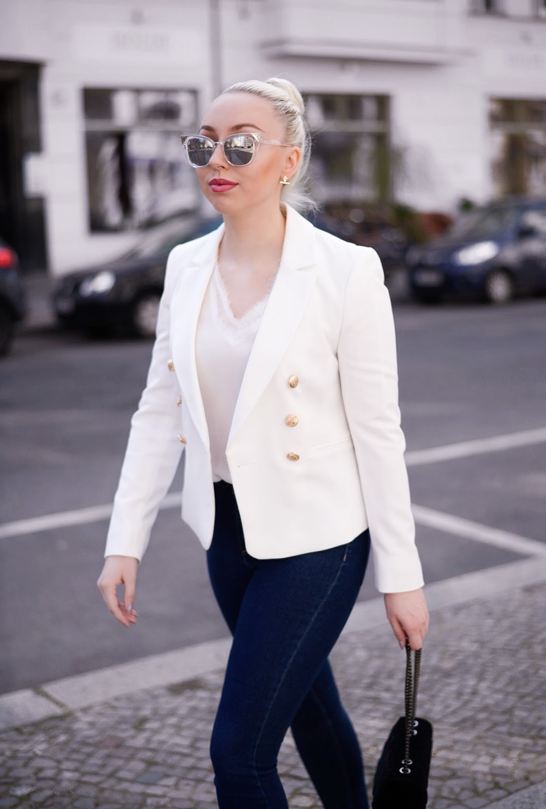 white miss selfridge blazer_balmain inspired blazer_balmain blazer for less
