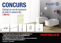 Castiga un set complet de accesorii de baie Kludi A-XES in valoare de 1300 lei