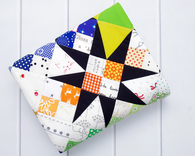 A Modern Rainbow Baby and Toddler Quilt | Red Pepper Quilts 2016