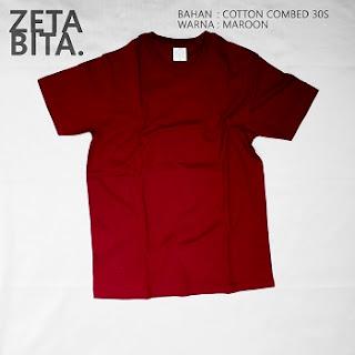 Kaos Polos Maroon - Zetabita