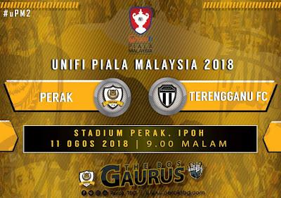 Live Streaming Perak vs Terengganu 11 Ogos 2018 Piala Malaysia